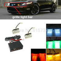 2 X 9 18 LED Emergency Strobe Lights do carro Front Grille Deck Strobe Light intermitente Amarelo Vermelho Verde Lâmpada de aviso do veículo