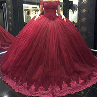 Wholesale Vestidos Sweet 16 Shorts - vestidos de Quinceanera Dresses 2017 Sheer Short Sleeves Beading Sequined Rhinestone Ruffled Tulle Lace up Back Ball Gown Sweet 16 Dresses