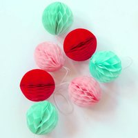 ingrosso tessuti di nozze di carta-5cm Lotto di 100 all'ingrosso carta velina palle a nido d'ape mini palle appese decorazione di nozze festa casa compleanno baby shower