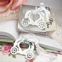 Envío gratis 20 unids Fairy Carriage Bookmark Party Favors Ducha nupcial Bautismo Party Gifts Event <b>Reception Ideas</b>