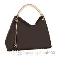 Wholesale Women S Fashion Purses - new hot Women's fashion canvas Artsy leather handbags shoulder bag fashion lady 's purse
