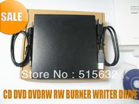 Wholesale Pc External Dvd Drive - Wholesale- NEW EXTERNAL DUAL LAYER USB 2.0 CD DVD DVDRW RW BURNER WRITER DRIVE FOR ALL PC BLACK
