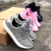 Wholesale Discount Ladies Running Shoes - Discount Kanye West 350 Boosts Turtle Dove Running Shoes, wholesale women Boost 350 shoes sneakers, lady Pink Moonrock Pirate Black & White