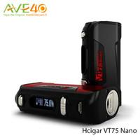 Wholesale Use Wire - Hcigar VT75 NANO TC 75W Box Mod 75w Out Put Support Ni Ti SS Wire EVOLV DNA Chip use single 18650 Battery