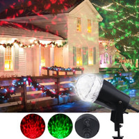 Wholesale rotating night light projector - Led Rotating Projection Light with Flame Lightings Kaleidoscope Spotlight Outdoor Christmas Projector Light Halloween Night Light Lawn Lamp