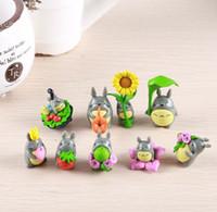 bonecas japonês figurines venda por atacado-(9 pçs / lote) o meu vizinho Totoro figura presentes boneca de resina em miniatura estatuetas Brinquedos 5 cm PVC plactic japonês bonito adorável anime 151209
