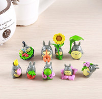 anime figuren harz großhandel-(9 teile / los) mein nachbar totoro figur geschenke puppe harz miniaturfiguren spielzeug 5 cm pvc plactic japanese cute lovely anime 151209