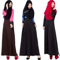 Wholesale Abaya Embroidered - Embroider detail sleeve Abaya models dubai Muslim clothing black abaya with a simple outerwear garment fashion design muslim women