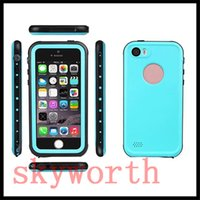 Wholesale Iphone 4s Off - Waterproof Redpepper Case cover For iPhone 6 6S Plus 4S 5 SE 5SE 5S 5C Shock Snow Dirt proof kick-off Stand finger print