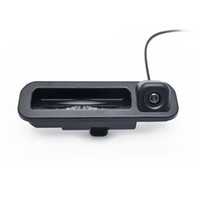Wholesale Rear View Camera For Ford - LEEWA Car Rear View Parking Trunk Handle Camera For Ford Focus 2012 2013 Focus 2 Focus 3 Backup Camera #4684