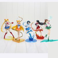 5 pz / set 17 cm Figuarts Zero Anime Sailor Moon Figure Tsukino Usagi SHF Sailor Mars Mercurio Giove Venere action Figure Giocattoli