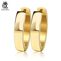 Wholesale Making Crystal Earrings - 3 Layer Gold Plated Silver Plated Hoop Earrings made in 316L Stainless Steel High Quality Earring for Woman GTE16