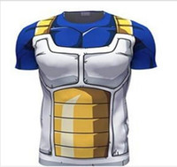 Wholesale Short Tights Woman - HIGH QUALITY CLASSIC ANIME DRAGON BALL Z SUPER SAIYAN 3D T SHIRT VEGETA GOKU ARMOUR FITNESS TIGHTS WOMEN MEN CASUAL TEE SHIRTS hight
