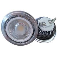 Wholesale sale spotlights resale online - 30PCSlot Hot sale Dimmable LED Spotlight AR111 W Warm Cold White COB ES111 QR111 G53 V V V V V Equal W Halogen Lamp