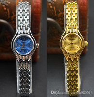 Wholesale metal strap wrist watch - Fashion Chaoyada elegant Women girl quartz Small and exquisite gold silver Metal steel strap Bracelet wrist watch 704