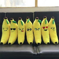 Wholesale Emoji banana Pillows skins cute soft diameter cm cm cm cm All styles CE Cushion Cute Yellow Plush Gifts no stuffed wholesell