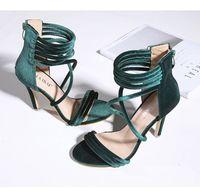 Wholesale Roman Sandals Style Shoes - Roman Sandals Women Pumps European New Style Booties Ladies Sexy Hollow Cross Lace Up Strap Stiletto High Heels Shoes Woman