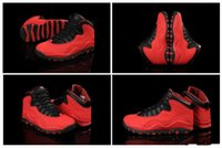 Wholesale Fusion Sports - [With Box] Free shipping Wholesale 2016 Band Hot Sale Cheap New Air Retro 10 X GS Fusion Red Men's Basketball Sport Footwear Sneaker Shoes