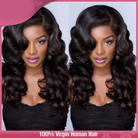 "Wholesale Brand Wigs - 14"" human hair Short Loose wave bob Fashion full lace wigs lace front wigs>> Brand New High Quality Fashion Picture full lace wigs"