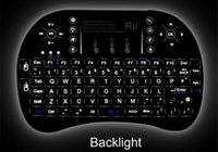 Wholesale keyboard mouse universal remote control - I8 Fly Air Mouse Mini Wireless Handheld Keyboard 2.4GHz Touchpad Remote Control For M8S MXQ MXIII universal TV box with background light