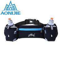 Wholesale Fanny Pack Water Bottle - Wholesale-AONIJIE Running Hydration Belt Bag Waist Pack Bottle Holder + 2 pc 250ml Water Bottles Sport Bag Men Women Fanny Pack