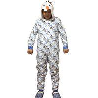 Wholesale Men Cotton Pyjamas - Wholesale-Unisex Flannel Adult Snow Queen Olaf Pajamas Pyjamas Women Onesie Men Cosplay Animal Onesies Sleepwear