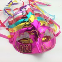 Wholesale half mask sex online - Wedding party masks fashion venetian masquerade mask Painted with eye shadow small beauty ball performance party mask for sex girls Lady