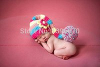 Wholesale Valentine Backpack - New baby valentine style multicolor Handcraft cotton long tails Newborn baby photography prop Winter hat animal backpack