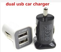 Wholesale Ipad1 Usb - 5V 3.1A Dual Port USB Car Charger 5V 3100mah for iPhone4 4S for iPAD1 2
