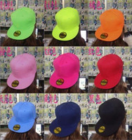 Wholesale Blank Accessories - Blank Plain Snapback Hats Unisex women Men's Hip-Hop adjustable bboy Baseball Cap sun hat 16colors Fashion Accessories