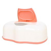 Wholesale wet wipes tissue - Wholesale- 1 Pc PP Baby Wipes Palstic Tissue Case Press Pop-up Design Home Children Wet Remove Tissue Canister Care Tool Accessories 2016