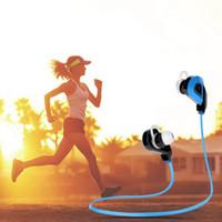 mikrofon tasarımı toptan satış-Uhappy S02 Bluetooth Kulaklıklar Kablosuz Su Geçirmez Kulaklık BT V4.1 Mic ile Stereo Kulaklık MP3 Ses İletimi Anıt-ter Spor Tasarım
