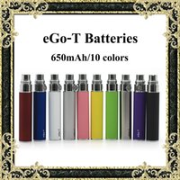 Wholesale Nova Tops - Ego-T Batteries Top Quality 650mAh eGo T Battery Sufficient Capacity 10 Colors Available Fit MT3 CE4 ViVi Nova DCT Atomizers Fast Shipping