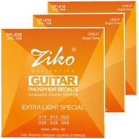 Wholesale Phosphor Bronze - 3sets lot 010-048 ZIKO Acoustic guitar strings musical instruments Accessories PHOSPHOR BRONZE Strings guitar parts wholesale