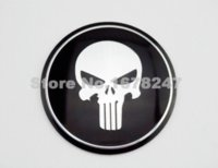 black fuel wheels - Motorcycle Skull Fuel Gas Tank Badge Emblem Fairing Body Wheel Center Decal Sticker Dyna Softail Sporster Electric Glide Custom