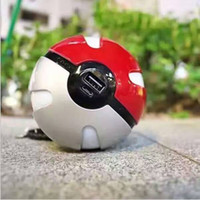 Wholesale Night Light Mobile - Poke night lights Wallpaper 3D night light Quick phone Charge Go Red Ball Power Bank Charger With LED Light Mobile game portable charge