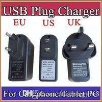 Wholesale Cell Phone Christmas - EU US UK Plug Universal USB Charger AC Power Adapter for A33 A31S MTK6572 Tablet PC Cell phone 5V 2A C-PD
