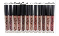 Wholesale nyx lip lingerie online - NYX lip lingerie liquid Matte Lip Cream Lipstick NYX Charming Long lasting Brand Makeup Lipsticks Lip Gloss colors DHL