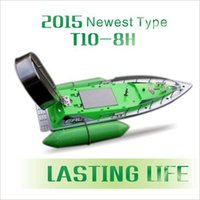 Wholesale rubber fish lures - Wholesale-2015 Newest T10-B Remote Control 8 Hours 9600MAH Bait Fishing Boat 280M Remote Fish Finder Boat Wireless Fishing Lure Boat