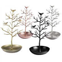 Bird Tree Jewelry Display Stand Earring Necklace Bracelet Rack Holder Display Jóias titular