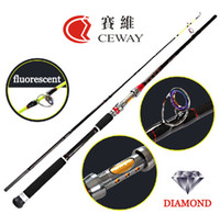 Wholesale saltwater fishing tackle sale resale online - Carbon Hard Fishing Rod K CLOTH Diamond Light Jigging Jig Rods Boat Rod Fishing Tackles sections m m Hot Sale