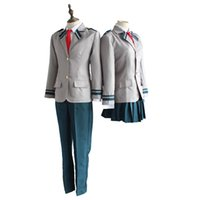 Wholesale japanese school cosplay - Boku no Hero OCHACO URARAKA Midoriya Izuku cosplay Costumes My Hero Academia Academia AsuiTsuyu Yaoyorozu Momo School Uniform