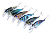 Wholesale fly fishing baits lures resale online - NEW PS Painted Laser wobbler Minnow lure cm g Freshwater Fishing crap swimbaits simulation Fish bait with hooks