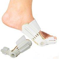 llave de dedo del pie valgo al por mayor-500 unids dispositivo de juanete Hallux Valgus Pro tirantes pies cuidado pulgar Hallux Valgus tirantes separador de dedo del pie