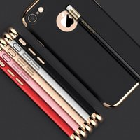 Wholesale for iPhone Plus Case Luxury Thin Shockproof piece Armor Anti Fingerprint Frosted Protective Shiny Plating bumper Back Case Cover stylish