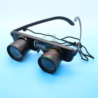 Wholesale Glass Inspection - New 3x28 Portable Anti-Ultraviolet Glasses Style Fishing Telescope Binocular with Strap free shipping order<$18no track