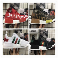 Wholesale New Fabric Collections - New Arrival 2017 NMD Runner Pack Collection R1 Primeknit Runner NMD R1 PK Tri-Color Pack Men Womens Shoes Size 36-45