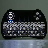 мульти-тв-бокс оптовых-Беспроводная клавиатура с подсветкой H9 Fly Air Mouse мультимедийный пульт дистанционного управления тачпад ручной QWERTY с Blacklight для Android TV BOX