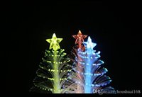 Wholesale Cheap Christmas Tree Gifts - Flashlight 288 fiber optic Christmas tree night light LED electronic Christmas gift stall toys wholesale Cheap Electronics
