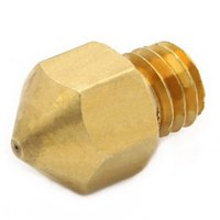 Wholesale printing machine parts - 1Pc mm mm mm mm Copper Extruder Nozzle Print Head for Makerbot MK8 D Printer B00044